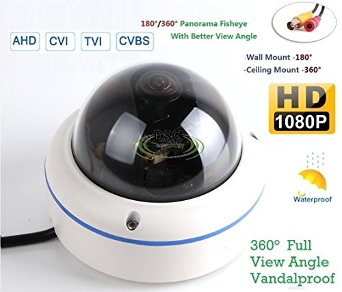 180/360˚ Panorama View Angle 700TVL 1/3 1/3'' Sony Super HAD II CCD Double Scan Indoor/Outdoor Dome Security Camera, Advanced DSP to Offer High Image Quality by DIYSecuritycameraworld