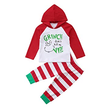 39c36fe911d4 Amazon.com   Christmas Outfit for Baby Girls Boys Long Sleeve Hoodie ...