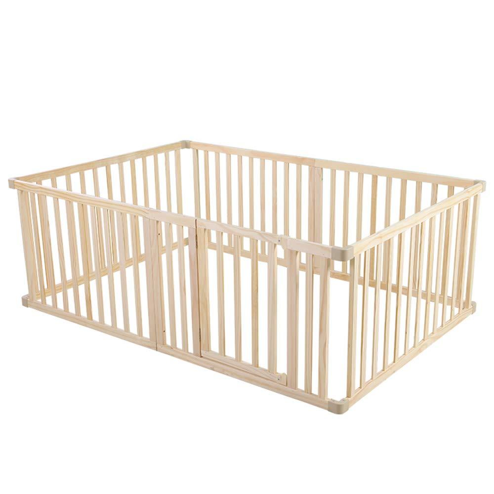 HUO ベビープレイフェンスベビークロール幼児フェンスソリッドウッド子供セーフティフェンスフェンス 省スペース (サイズ さいず : 120 * 180cm) 120*180cm  B07J4TNQDQ