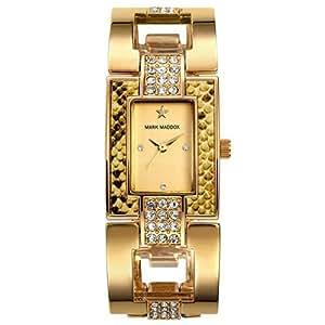 Reloj Mark Maddox de Mujer. Modelo MF3005-27. Esfera Rectangular de color dorado
