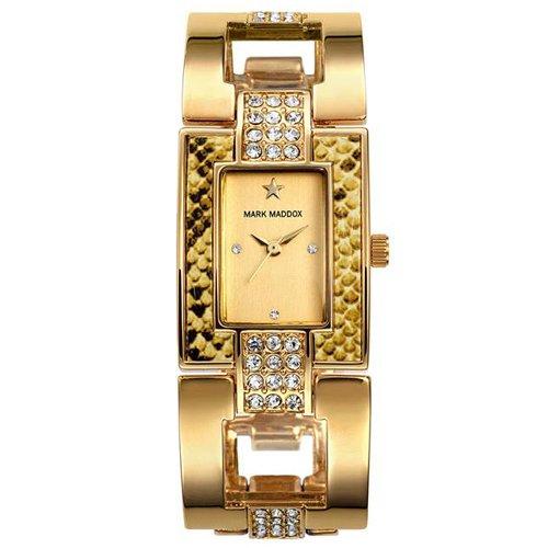 Reloj Mark Maddox de Mujer. Modelo MF3005-27. Esfera Rectangular de color dorado: Amazon.es: Relojes