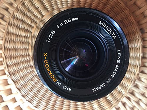 Minolta Md Mount Lens - MINOLTA MD 28MM F2.8 LENS FOR MINOLTA MD/MC MOUNT CAMERAS
