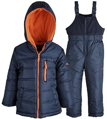 Osh Kosh B'Gosh Baby Boys 2 Piece Snowsuit Set (12M) Navy