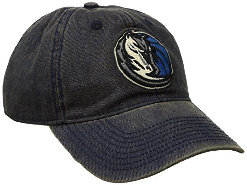 fan products of NBA Dallas Mavericks Men's Raised Chain Stitch Adjustable Slouch Hat, Navy, One Size