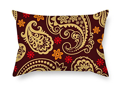 Throw Pillow Covers Of Paisley For Boys Father Office Couples Festival Boy Friend 16 X 24 Inches / 40 By 60 Cm(double Sides) (Gel Pedic Pet Bed Cover)