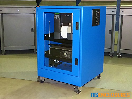 Heavy-Duty, NEMA 12 Printer Enclosure, Rack Enclosure with Filtered Fan System, Power Cord, and 6 Outlet Surge Protector by ITSENCLOSURES