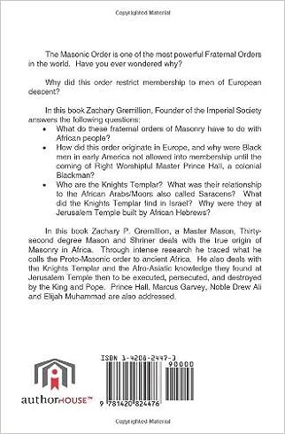AFRICAN ORIGINS OF FREEMASONRY: Treatise of the Ancient Grand ...