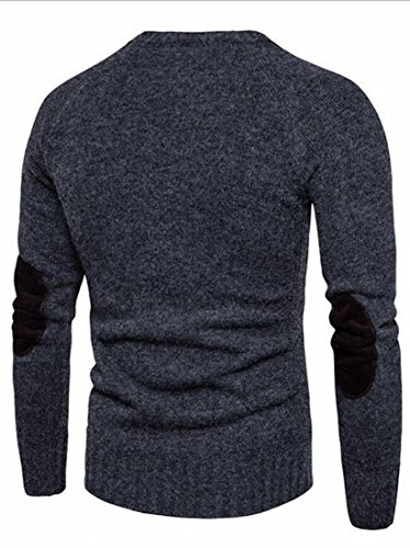 Sweater Knit Round Neck Pullover Gery amp;W M Winter amp;S Blouse Men's nwqWSWxFP