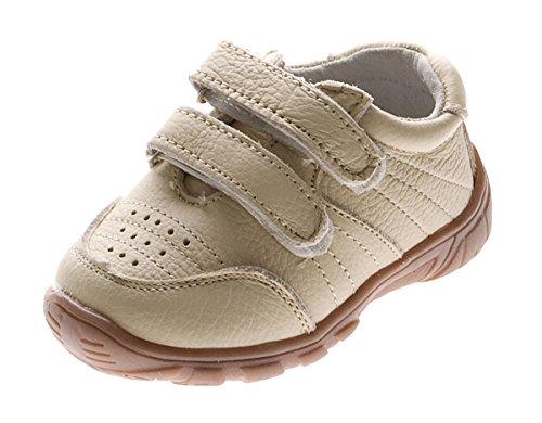 Magnus Kinder Sneaker Echt Leder Jungen Mädchen Kita Schuhe Freizeit Halb Schuh Gr. 19-24 Beige