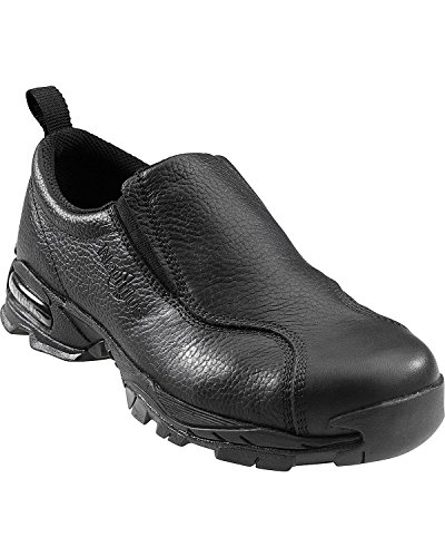 Nautilus 1630 Full Grain Leather ESD  Safety Toe Slip-On,Black,11.5 W - Black Leather Safety Shoe