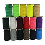 SGT KNOTS Marine Grade Dacron Polyester Shock / Bungee Cord 1/8'', 3/16'', 1/4'' - Several Colors - Made in USA (Black - 1/4'' x 500')
