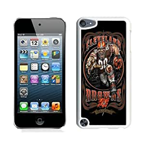 Cleveland Browns 01 White Case Cover for iPod Touch 5 Grace and Cool Design