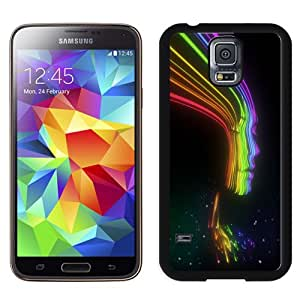 Fashion DIY Custom Designed Samsung Galaxy S5 I9600 Phone Case For Neon Light Girl Phone Case Cover