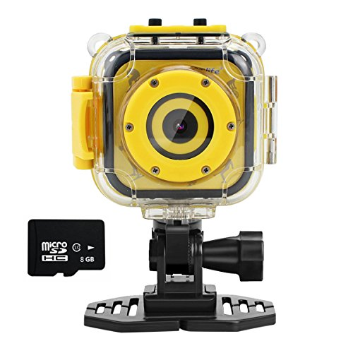 Ourlife kids Waterproof Camera with Video Recorder includes 8GB memory card (Yellow)