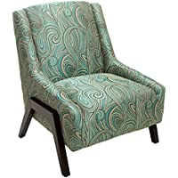 Denise Austin Home Verona Blue Fabric Occasional Chair