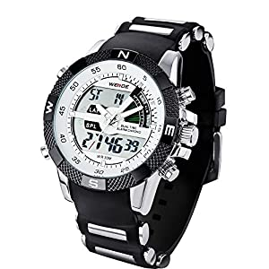 new fashion weide mens sports watch analog digital dual time lcd new fashion weide mens sports watch analog digital dual time lcd backlight wh 1104 1 watch gift box white dial