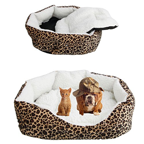 51RoDes9asL - New S Superior Pet Dog Puppy Cat Soft Fleece Cozy Warm Bed House Cotton Mat