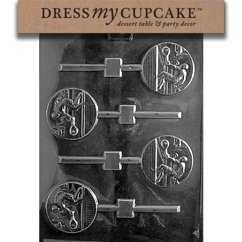 Dress My Cupcake DMCS036SET Chocolate Candy Mold, Tennis Lollipop, Set of 6
