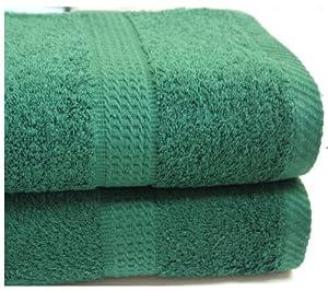 Dark Green Bath Sheet Towel Egyptian Cotton 600 Gsm