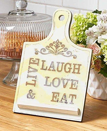 Kitchen Cookbook Tablet Holders (Live Laugh Love Eat) by Home & Kitchen Designs