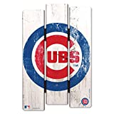WinCraft MLB Chicago Cubs Wood Fence Sign, Black
