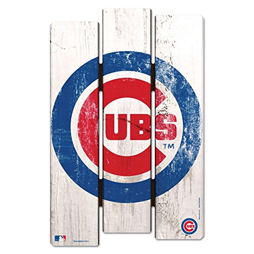 - WinCraft MLB Chicago Cubs Wood Fence Sign, Black