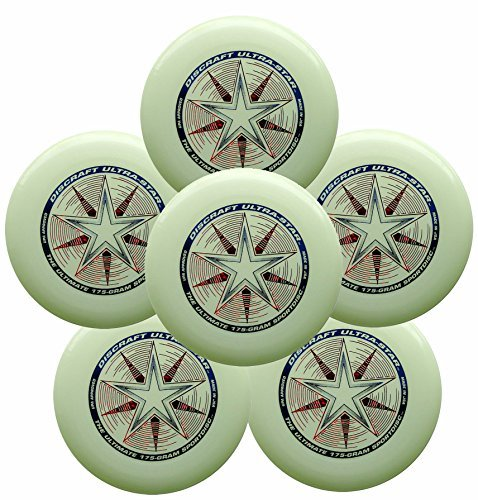 Discraft Ultra-Star 175g Ultimate Frisbee Sport Disc (6 Pack) Glow by Discraft
