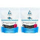 Shameless Pets 100% Natural Dog Treats, Blueberry Flaxseed | Pack of (2) | Made in The USA from Upcycled Food Ingredients - All Natural, Plant Based, and Superfood Infused!