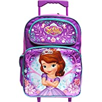 """Disney Princess Sofia the First 16"""" Large Rolling School Backpack"""