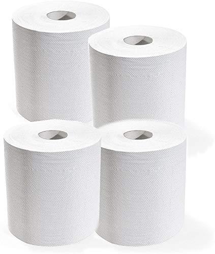 4 spoelen papierrollen, absorberend, 3200 scheuren, 2 lagen, pure cellulose, handdoeken.