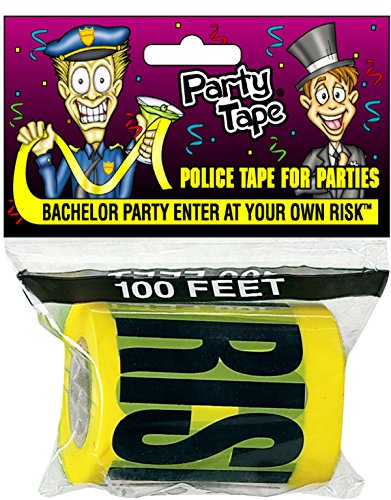 Party Tape - BACHELOR PARTY ENTER AT YOUR OWN RISK - 100 - At Risk Read Your Own