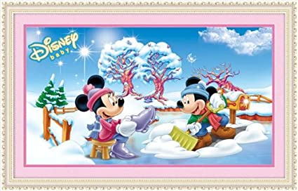 5D Diy Daimond Painting Mickey Minnie Mouse couple Rhinestone Embroidery Kids