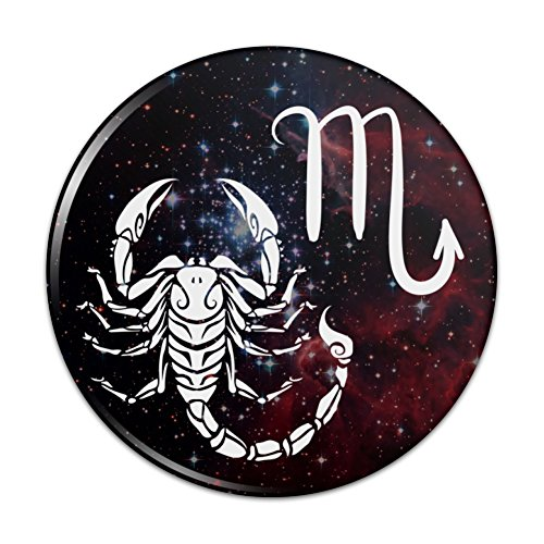 (Scorpio Scorpion Zodiac Sign Horoscope in Space Pinback Button Pin Badge - 2.25