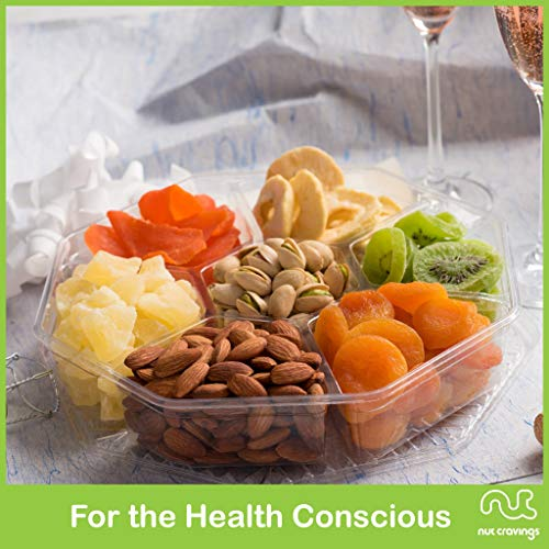 Gourmet Gift Basket, Nut & Dried Fruit Tray (7 Mix) - Variety Care Package, Birthday Party Food, Holiday Arrangement Platter, Healthy Snack Box for Families, Women, Men, Adults - Prime Delivery