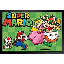 Super Mario Chase Video Gaming Framed Poster 17x11 by ProFrames