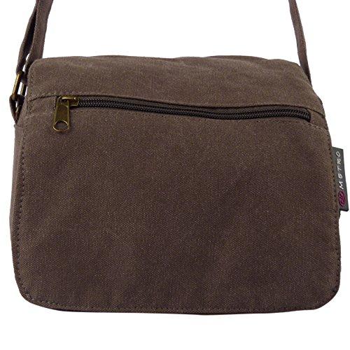 Metro Canvas Travel Ladies 3 Brown Small Festival Utility Men Holiday Colours Bag qa6Ewat