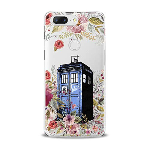 Lex Altern TPU Case for OnePlus 7 Pro 6T 6 2019 5T 5 2017 One+ 3 1+ Blue Police Box Doctor Who Cover Flower Silicone Print Protective Kid Girl Design Floral Transparent Women Teen Clear Nice Art]()
