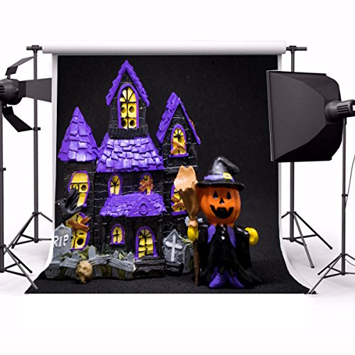 Cute Halloween Desktop Pics (Yeele 5x7ft Vinyl Photography Background Happy Halloween Photography Backdrop Studio Props)