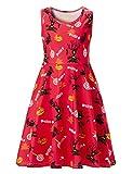 Adicreat Girls Halloween Print Sleeveless Summer Sundress Knee Length Dress 10-12 Years