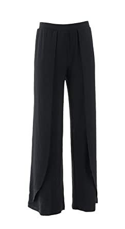 3ea5d5ff1d Amazon.com: Halston Jet Set Jersey Fly-Away Wide Leg Pants A306923 ...