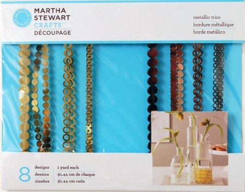 Martha Stewart Crafts Decoupage Metallic Trim, 33314 Gold/Rose Copper ()