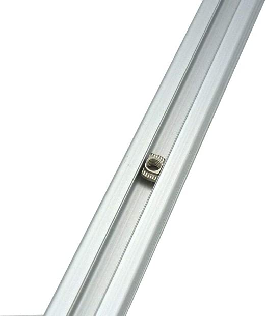 T-Slot SENRISE EU20-M3//M4//M5 /× 10/×6 Confezione da 50 dadi a T serie 2020 M3 M4 M5 T estrusioni in alluminio Slim T testa martello di fissaggio per profilo in alluminio argento