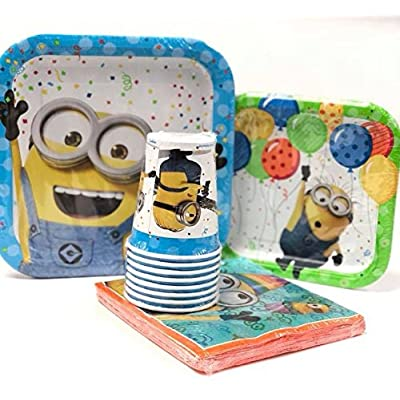 Universal Despicable Me Minions Value Pack Birthday Party for 8 Guests ( Plates, Cups, Napkins): Toys & Games