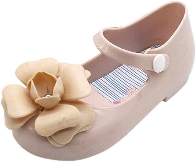 Forestime Baby Infant Girls Anit-Slip Leather Rubber Sole Prewalker Flower Princess Sandals Shoes
