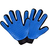 Petist Pet Deshedding Gloves, Grooming Brush for Removing Shedding Hair, Pet Massage and Bathing Comb for Dogs, Cats, Horses(2 Pack, Black)