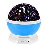 Gets Night Light Lamp,Star Projector Bedroom 360 Degree Rotating Starry LED Star Lights Night Projector Children Kid Bedroom Lamp (Blue)