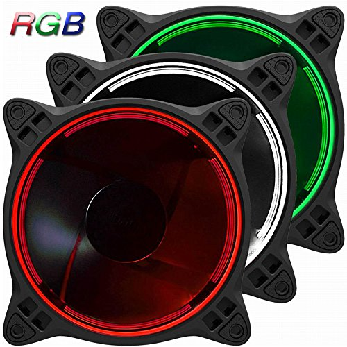 Loopback Connector Serial (Jonsbo FR-331 120mm Colorful RGB 256 LED Changeable Speed Controllable 6 Pin SATA Power Supply Interface High Airflow Silent PC Case Fan For Computer Cases ,CPU Coolers and Radiators-3 Pack)