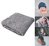 Newborn Photography Props Newborn Baby Stretch Long Ripple Wrap Yarn Cloth Blanket by Bassion
