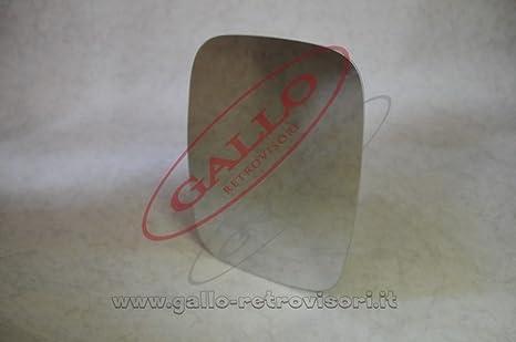 Sinistro Solo Vetro con Biadesivo Curvo Cromato Specchio Retrovisore specchietto esterno
