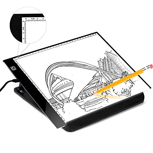 A4 Ultra Light Travel Board for Artist Drawing Sketching Animation X-Ray Viewing Quilting Tattoo Sewing, Portable LED Tracing Light Board Pad Brightness Control with USB Power Cable, Great for Kids by Kamugo